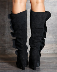 Kylie Slouch Pointy Boot - Black