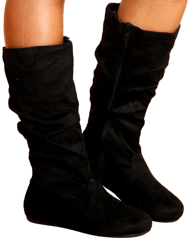 Aida Slouch Boot - Black