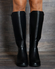 VIM VIXEN Isabella Knee High Riding Boot - Black - ShopVimVixen.com