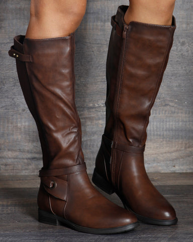 Alice Wide Calf Elastic Riding Boot