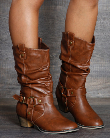 Christina Western Riding Boot - Tan