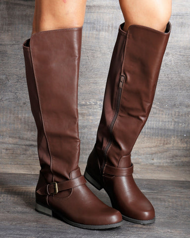 Rita Fabric Elastic Riding Boot