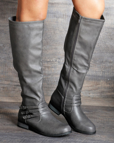 Leslie Side Elastic Side Zipper Boot