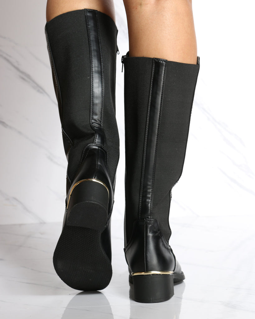 VIM VIXEN Katherine Back Elastic Riding Boot - Black - ShopVimVixen.com