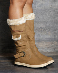 Avery Side Zipper Buckle Cold Boot