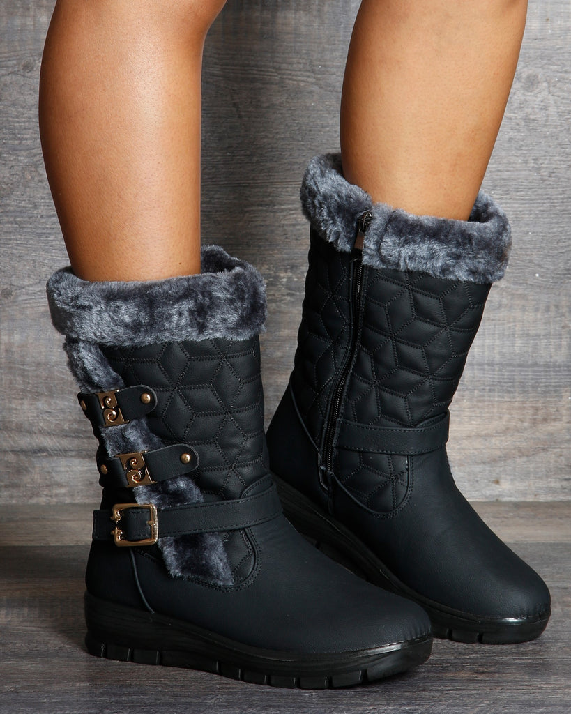 VIM VIXEN Pam Cold Weather Boot - Black - ShopVimVixen.com