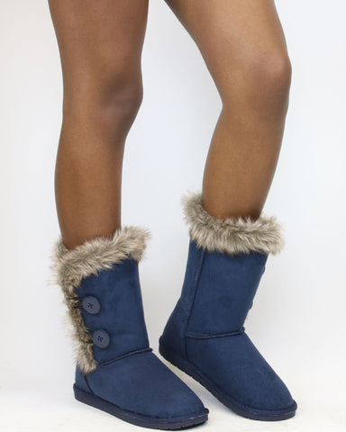 Caroline Fur Weather Boot (Available In 2 Colors)