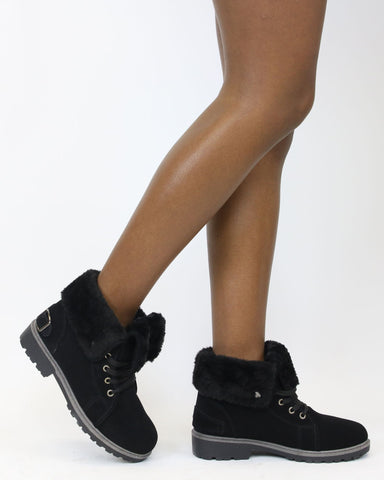 Daine Fur Lining Construction Boot