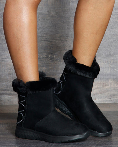 Sarah Lacy Fur Ankle Booties