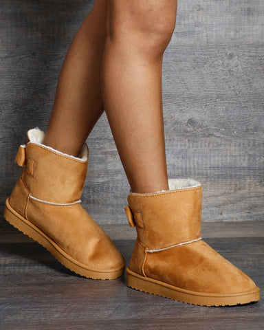 Ella Low Back Bow Winter Bootie
