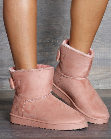 Anuska Back Bow Winter Boots