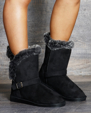 London Mid-Calf Fur Winter Boots