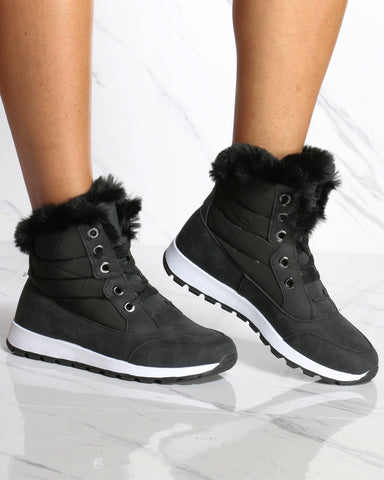 Caroline Sporty Nylon Cold Winter Booties