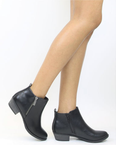 AUSTINE Side Zipper Bootie
