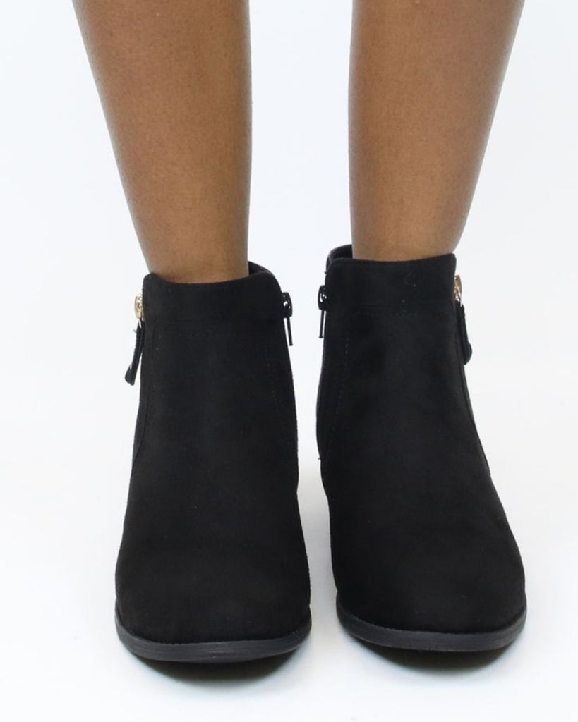 VIM VIXEN Lily Super Low Zipper Bootie - ShopVimVixen.com