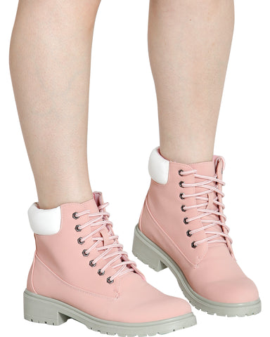 DEAD REAL Construction Bootie - Pink