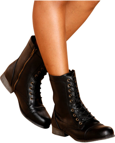 Diem Military Bootie - Black