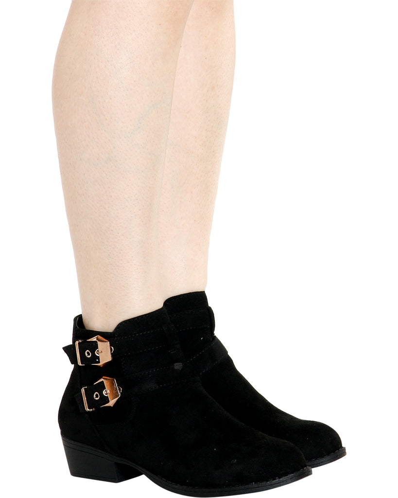 SANDY Gold Buckle Bootie (Available 2 Colors)