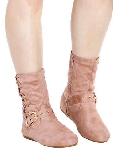 RACHEL Lace Up Side Short Bootie (Available in 5 Colors)
