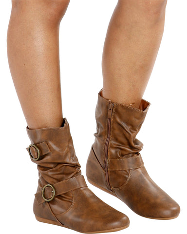 MONICA 2 Buckle Short Bootie (Available in 4 Colors)