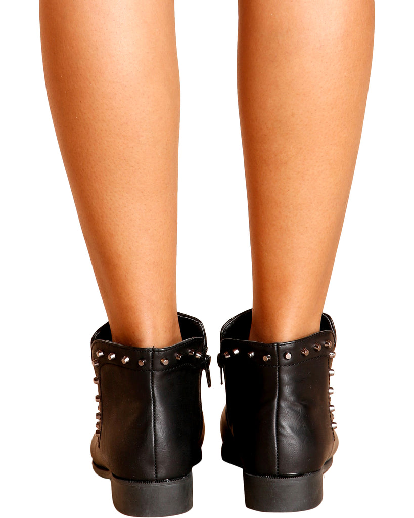 Anna Studded Bootie - Black