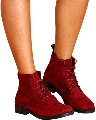 KIMBERLY Short Lace Up Booties (Available in 7 Colors)