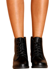 Kimberly Short Lace Up Booties