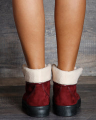 Maya Fold Over Fur Ankle Bootie