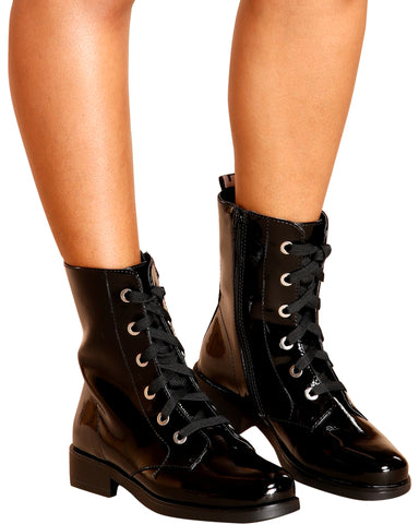 REIGN Love Lace Up Booties (Available in 2 Colors)
