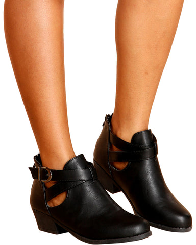 Blossom Criss Cross Ankle Booties