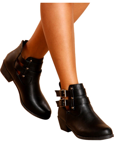 Baylee Studded Ankle Bootie - Black