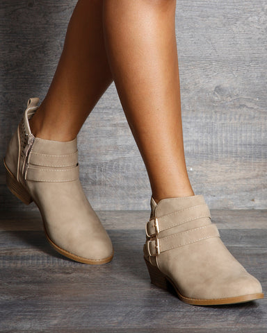Dawn 2 Buckle Ankle Booties
