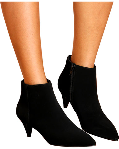 Spicy Pointy Kitten Heel Booties