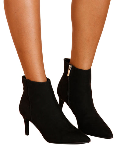 CLASSY GAL Pointy Toe Heel Booties (Available in 2 Colors)