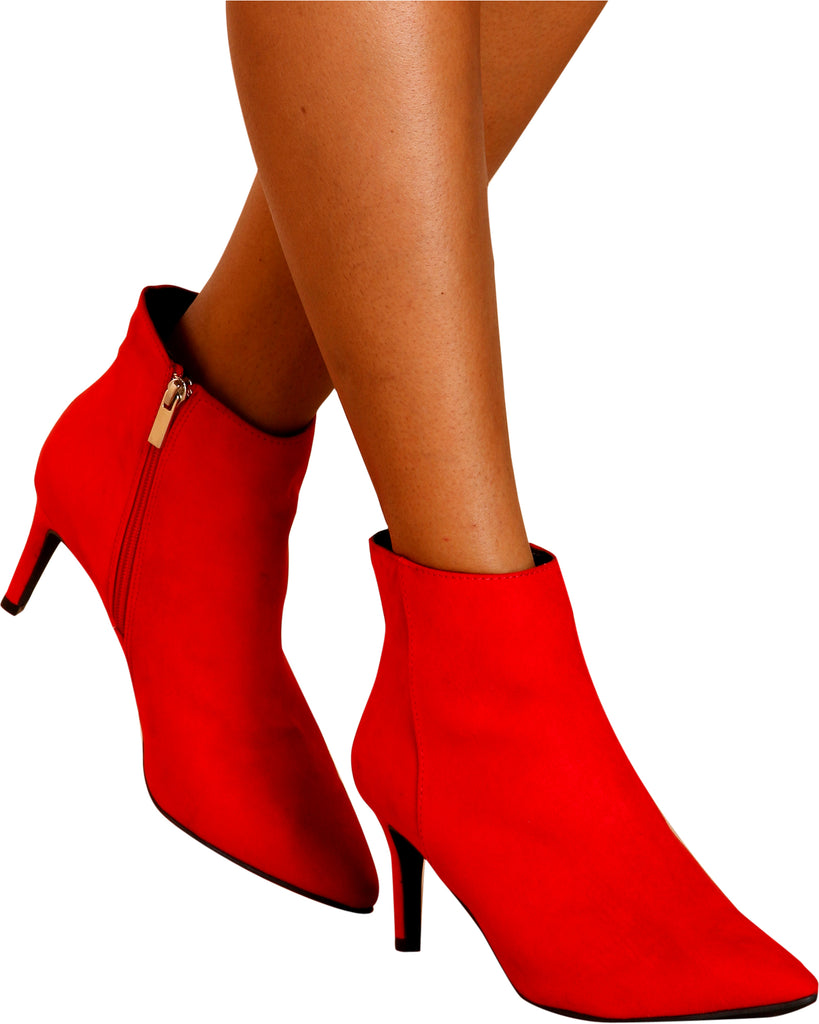 Classy Gal Pointy Toe Heel Booties