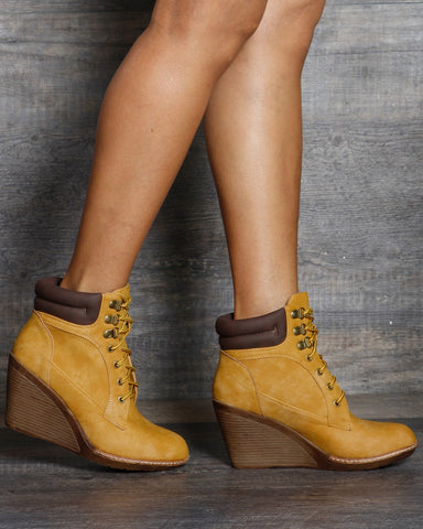 Bailey Construction Wedge Bootie