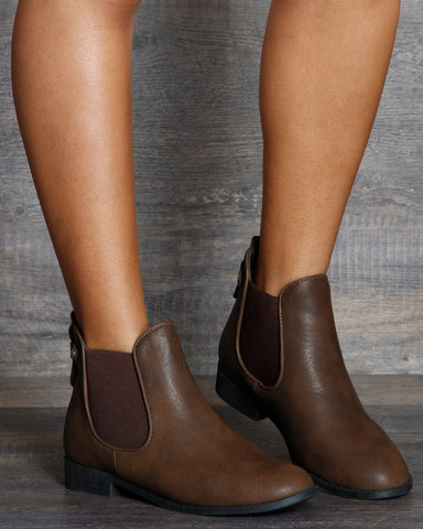 Natasha Double Gore Ankle Booties