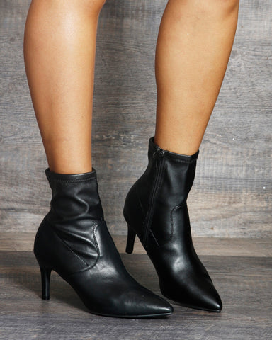 Aria Low Heel Ankle Booties