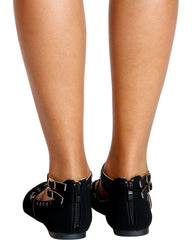 VIM VIXEN Magic Rhinestone Stud Flats - Black - ShopVimVixen.com