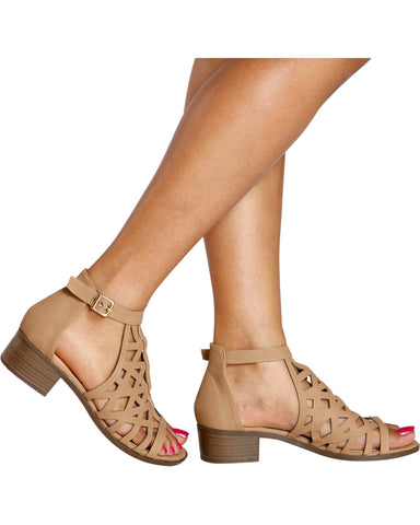Starlight Gladiator Heel - Tan