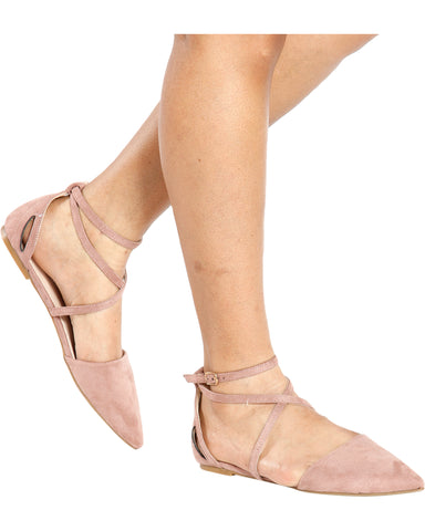 HILDA Pointy Strappy Flats (Available in 2 Colors)