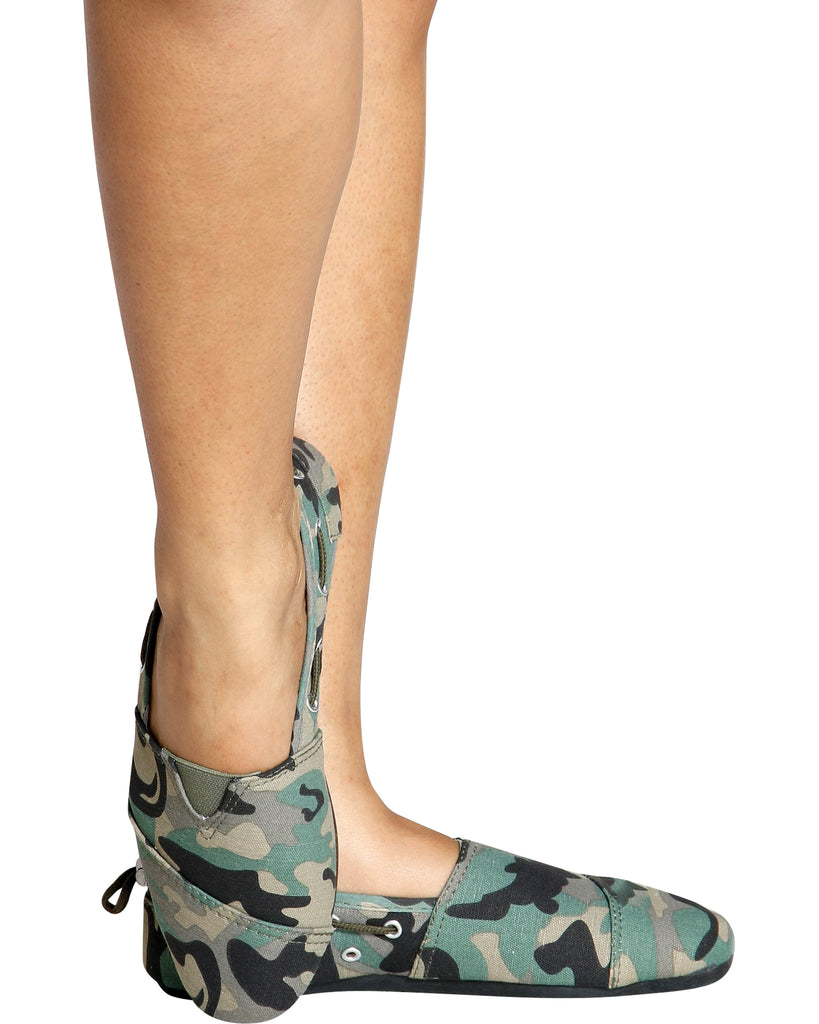 Cammy Slip On Canvas Shoe - Camo