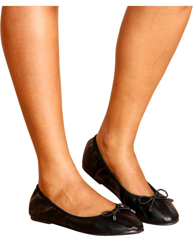 Work Time Soft Ballerina Flats - Black