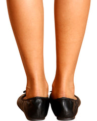 VIM VIXEN Work Time Soft Ballerina Flats - Black - ShopVimVixen.com