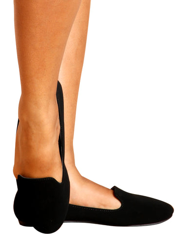Sara Memory Foam Smoking Flats - Black