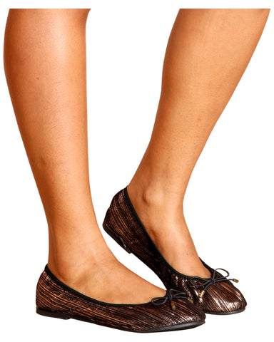 Laura Super Soft Ballerina Flats - Bronze
