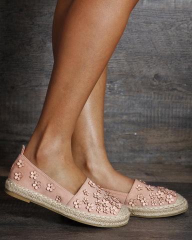 Haley Espadrille Flowers Flats