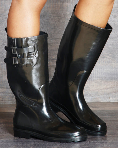 Shabana Two Buckle Rubber Rainboots