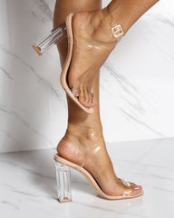 Cape Robbin Let'S Be Clear Heel - Nude - ShopVimVixen.com