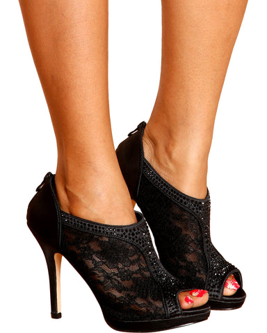 Beverly Lacey Heel - Black